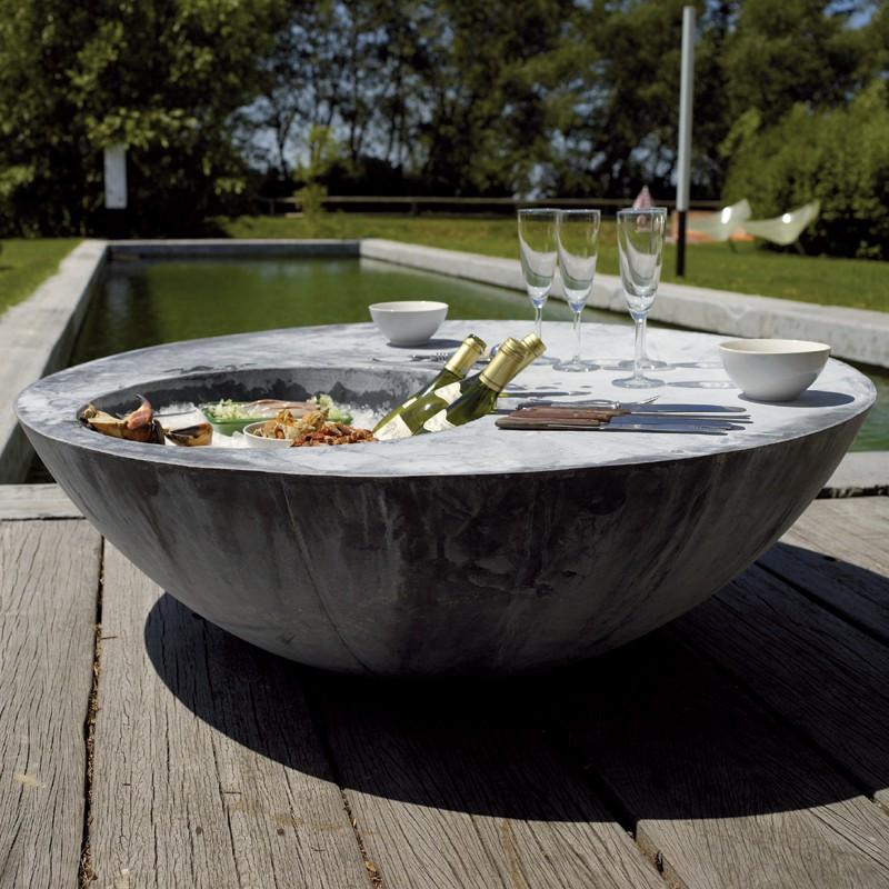 table basse zinc cool jardinchic. Black Bedroom Furniture Sets. Home Design Ideas