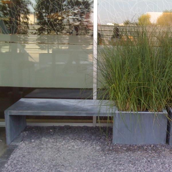 Banc jardini re zinc in out jardinchic for Jardiniere exterieur hiver