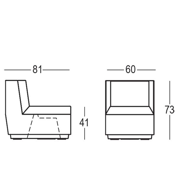 module central canap big cut jardinchic. Black Bedroom Furniture Sets. Home Design Ideas