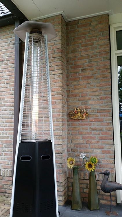 chauffage d 39 ext rieur hexagonal acier thermolaqu noir. Black Bedroom Furniture Sets. Home Design Ideas