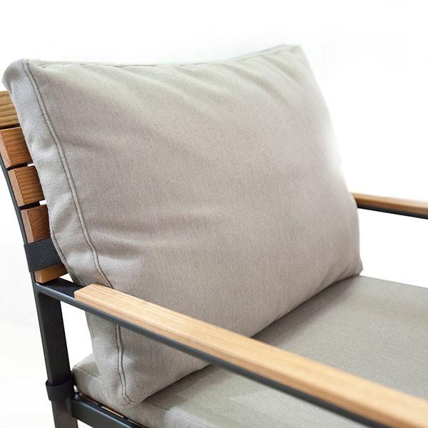 coussin de dossier pour chaise avec accoudoirs garden bistro jardinchic. Black Bedroom Furniture Sets. Home Design Ideas