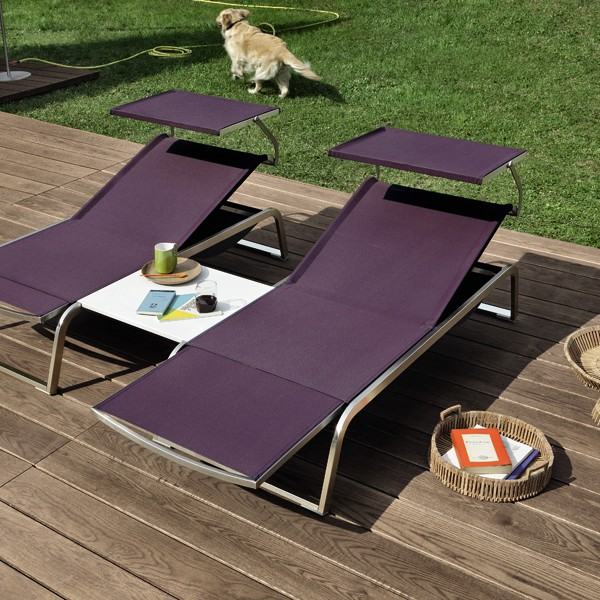 bain de soleil modulable l3 avec parasol jardinchic. Black Bedroom Furniture Sets. Home Design Ideas