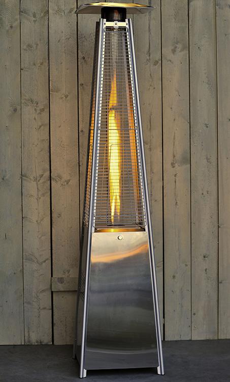 Chauffage d 39 ext rieur flame tower acier inox jardinchic for Chauffage exterieur propane