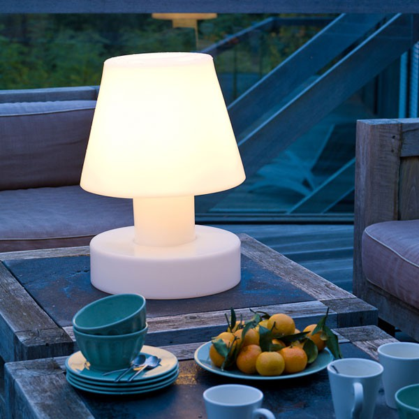 lampe portable avec batterie rechargeable h40cm jardinchic. Black Bedroom Furniture Sets. Home Design Ideas