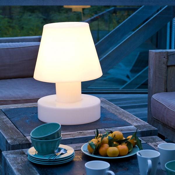 Lampe portable avec batterie rechargeable h40cm jardinchic - Lampe a recharger ...