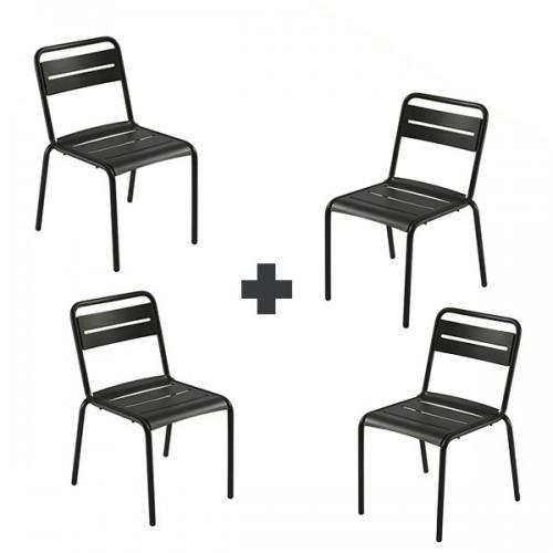 lot de 4 chaises star jardinchic. Black Bedroom Furniture Sets. Home Design Ideas