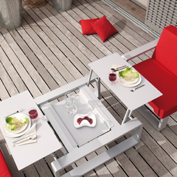 Petite table modulable kama jardinchic - Table salon modulable hauteur ...