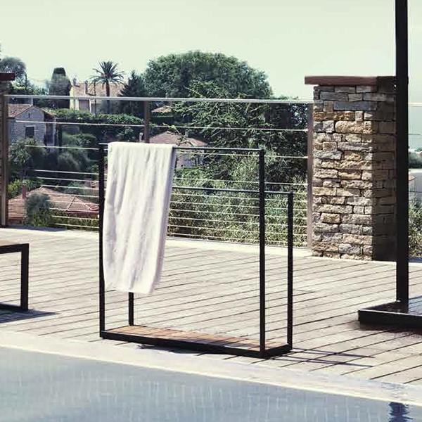 Porte serviette garden jardinchic for Porte serviette pour porte