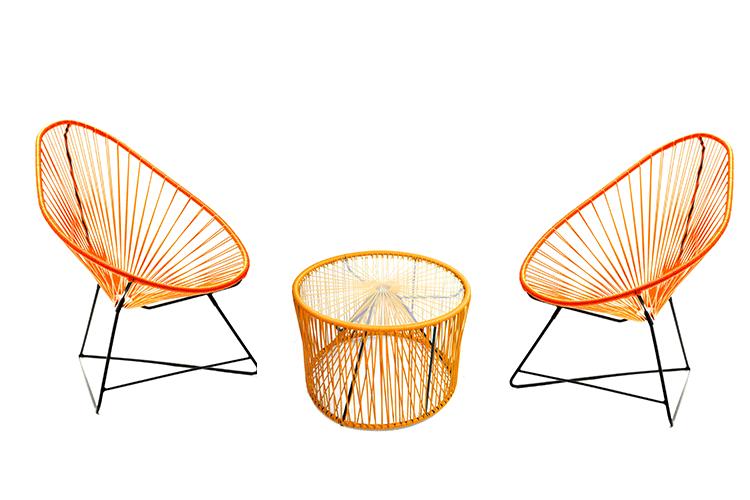 salon de jardin 2 fauteuils acapulco 1 table basse celaya jardinchic. Black Bedroom Furniture Sets. Home Design Ideas