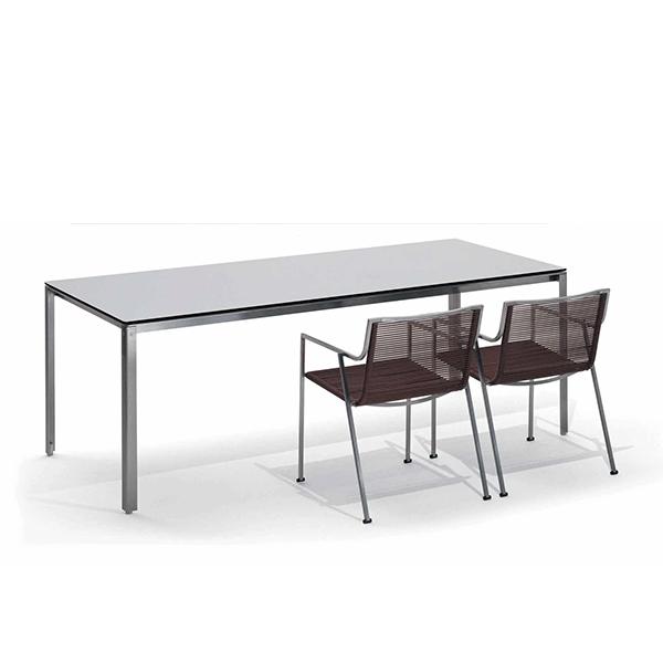 table rectangulaire shot plateau stratifi jardinchic. Black Bedroom Furniture Sets. Home Design Ideas