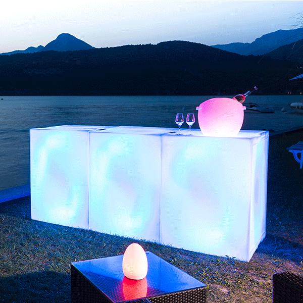Bar lumineux modulable smartbar jardinchic for Bar lumineux
