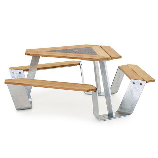 Table anker jardinchic for Table exterieur galvanise
