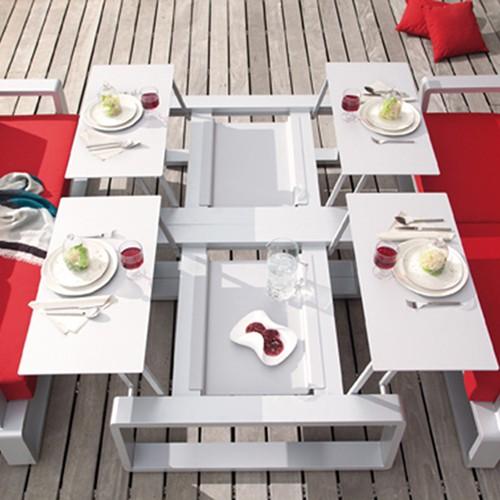 Table modulable kama quattro jardinchic - Table salon modulable hauteur ...