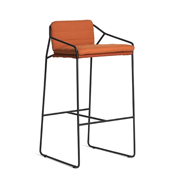 Coussin assise dossier pour tabouret de bar sandur jardinchic - Assise pour tabouret de bar ...