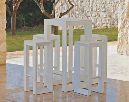 tabouret haut frame jardinchic. Black Bedroom Furniture Sets. Home Design Ideas