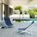 Chaise Longue Boomy Structure Vernis Blanc