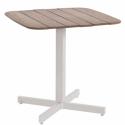 Table carrée Shine Plateau Teck