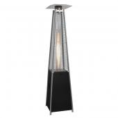 Chauffage d'Extérieur Flame Tower Acier Thermolaqué Noir