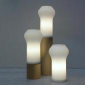 Lampe Floret avec Base en Bois