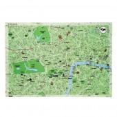 Bloc 50 Sets de table en papier 'World dinners Maps'
