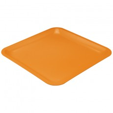 Assiette Carrée Seaside orange