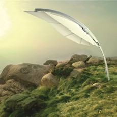 Parasol Rimbou Icarus XL Blanc Umbrosa Jardinchic