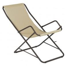 Chaise Longue Bahama Marron D'inde/ Beige Emu JardinChic