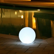 Boule Lumineuse Ball Rouge Smart and Green JardinChic