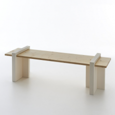 Banc Play Wood Serralunga Piétement Blanc Jardinchic