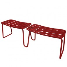Lot de 2 Bancs Modulaires Chips Rouge MyYour JardinChic