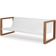 Sofa Lounge Cima Teck Blanc Fuera Dentro Jardinchic