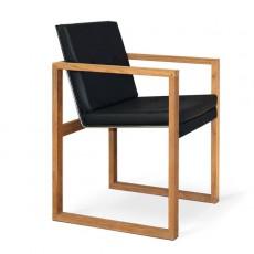 Chaise Cima Butaque Lounge Teck Noire avec coussin Fuera Dentro Jardinchic
