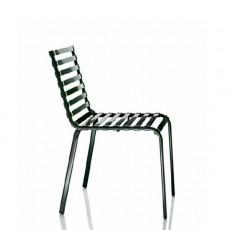 Lot de 4 Chaises empilables Noir Striped  Magis JardinChic