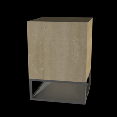 Enceinte Cube 400 Travertin Noce Architettura Sonora Jardinchic