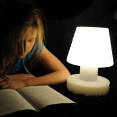 Lampe Portable sans fil rechargeable H 28 cm Verte Détouré Bloom! JardinChic
