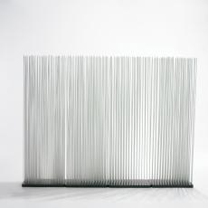 Paravent Sticks H150cm - Base 50x25cm - Tiges Blanches Extremis Jardinchic