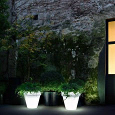 Pot Lumineux Vas Three Light neutre Jardin Serralunga JardinChic