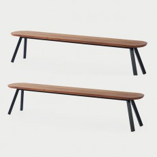 Set De 2 Bancs L220cm You And Me Noir RS Barcelona JardinChic