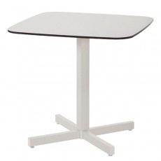 Table Carrée Plateau HPL Shine Blanc Cassé Emu JardinChic