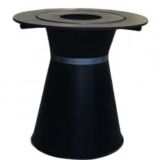 Table Haute Braséro Plancha Fusion Bois