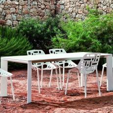 Table Rectangulaire A Rallonge L270cm Grande Arche Fast JardinChic