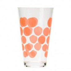6 Verres Dot orange ZAK! Designs JardinChic