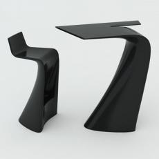 Table Haute Et Tabouret Haut Noir Wing Vondom JardinChic