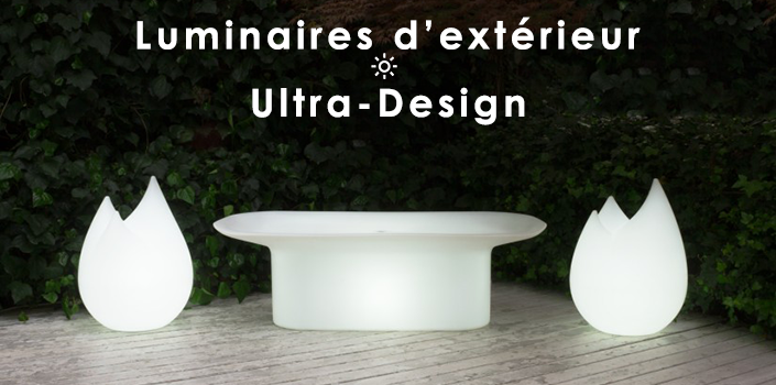 Sélection Luminaires d'extérieur ultra design Jardinchic