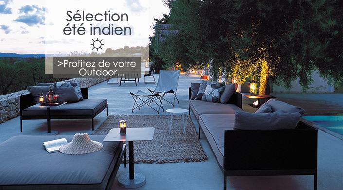 Sélection Eté indien 2016 Mobilier design outdoor Jardinchic