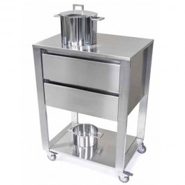 Module de Cuisine Kada 2 tiroirs Plateau Inox Joko Domus Jardinchic