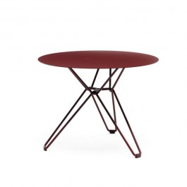 Table basse ronde Tio Whine Red Massproductions Jardinchic
