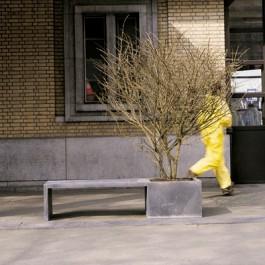 Banc Jardinière Zinc In-Out Face Ambiance  Domani JardinChic