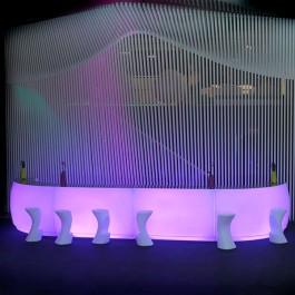 Bar Modulable Fiesta LED RGB Droit Rouge Vondom Jardinchic