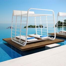 Cabanon Nauta avec Sets de meuble, Coussins et Matelas vendus en option Umbrosa Jardinchic